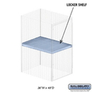 Salsbury Industries 8334-S Shelf - for Bulk Storage Locker - 36 Inches Wide - 48 Inches Deep