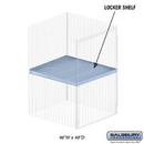 Salsbury Industries 8344-S Shelf - for Bulk Storage Locker - 48 Inches Wide - 48 Inches Deep