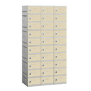 Salsbury Industries 90368TN-U Plastic Locker - Ten Tier - 3 Wide - 73 Inches High - 18 Inches Deep - Tan - Unassembled