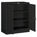 Salsbury Industries 9048BLK-A Storage Cabinet - Counter Height - 42 Inches High - 18 Inches Deep - Black - Assembled