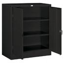 Salsbury Industries 9048BLK-U Storage Cabinet - Counter Height - 42 Inches High - 18 Inches Deep - Black - Unassembled