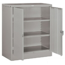 Salsbury Industries 9048GRY-A Storage Cabinet - Counter Height - 42 Inches High - 18 Inches Deep - Gray - Assembled