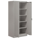 Salsbury Industries 9074GRY-U Storage Cabinet - Standard - 78 Inches High - 24 Inches Deep - Gray - Unassembled