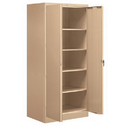 Salsbury Industries 9074TAN-A Storage Cabinet - Standard - 78 Inches High - 24 Inches Deep - Tan - Assembled
