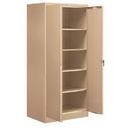 Salsbury Industries 9074TAN-U Storage Cabinet - Standard - 78 Inches High - 24 Inches Deep - Tan - Unassembled