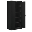 Salsbury Industries 9078BLK-A Storage Cabinet - Standard - 78 Inches High - 18 Inches Deep - Black - Assembled