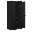 Salsbury Industries 9078BLK-U Storage Cabinet - Standard - 78 Inches High - 18 Inches Deep - Black - Unassembled