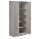 Salsbury Industries 9078GRY-A Storage Cabinet - Standard - 78 Inches High - 18 Inches Deep - Gray - Assembled