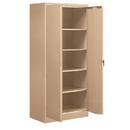 Salsbury Industries 9078TAN-A Storage Cabinet - Standard - 78 Inches High - 18 Inches Deep - Tan - Assembled