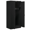 Salsbury Industries 9174BLK-A Storage Cabinet - Wardrobe - 78 Inches High - 24 Inches Deep - Black - Assembled
