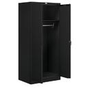 Salsbury Industries 9174BLK-U Storage Cabinet - Wardrobe - 78 Inches High - 24 Inches Deep - Black - Unassembled