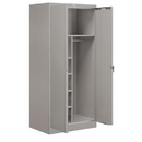 Salsbury Industries 9274GRY-A Storage Cabinet - Combination - 78 Inches High - 24 Inches Deep - Gray - Assembled