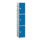 Salsbury Industries 93168BL-A Plastic Locker - Triple Tier - 1 Wide - 73 Inches High - 18 Inches Deep - Blue - Assembled