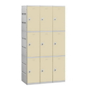 Salsbury Industries 93368TN-A Plastic Locker - Triple Tier - 3 Wide - 73 Inches High - 18 Inches Deep - Tan - Assembled