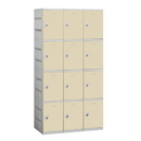 Salsbury Industries 94368TN-A Plastic Locker - Four Tier - 3 Wide - 73 Inches High - 18 Inches Deep - Tan - Assembled