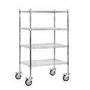 Salsbury Industries 9534M-CHR Wire Shelving - Mobile - 36 Inches Wide - 69 Inches High - 24 Inches Deep - Chrome
