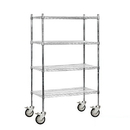 Salsbury Industries 9538M-CHR Wire Shelving - Mobile - 36 Inches Wide - 69 Inches High - 18 Inches Deep - Chrome