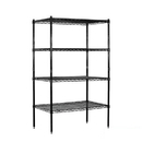 Salsbury Industries 9538S-BLK Wire Shelving - Stationary - 36 Inches Wide - 63 Inches High - 18 Inches Deep - Black