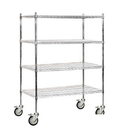 Salsbury Industries 9544M-CHR Wire Shelving - Mobile - 48 Inches Wide - 69 Inches High - 24 Inches Deep - Chrome