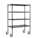 Salsbury Industries 9548M-BLK Wire Shelving - Mobile - 48 Inches Wide - 69 Inches High - 18 Inches Deep - Black