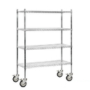 Salsbury Industries 9548M-CHR Wire Shelving - Mobile - 48 Inches Wide - 69 Inches High - 18 Inches Deep - Chrome