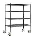Salsbury Industries 9554M-BLK Wire Shelving - Mobile - 60 Inches Wide - 69 Inches High - 24 Inches Deep - Black