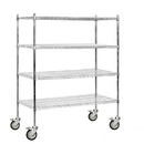 Salsbury Industries 9554M-CHR Wire Shelving - Mobile - 60 Inches Wide - 69 Inches High - 24 Inches Deep - Chrome