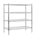 Salsbury Industries 9554S-CHR Wire Shelving - Stationary - 60 Inches Wide - 63 Inches High - 24 Inches Deep - Chrome