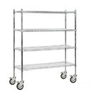 Salsbury Industries 9558M-CHR Wire Shelving - Mobile - 60 Inches Wide - 69 Inches High - 18 Inches Deep - Chrome