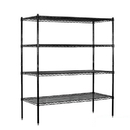 Salsbury Industries 9558S-BLK Wire Shelving - Stationary - 60 Inches Wide - 63 Inches High - 18 Inches Deep - Black