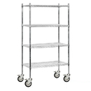 Salsbury Industries 9638M-CHR Wire Shelving - Mobile - 36 Inches Wide - 80 Inches High - 18 Inches Deep - Chrome