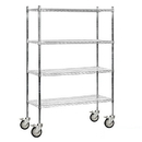 Salsbury Industries 9648M-CHR Wire Shelving - Mobile - 48 Inches Wide - 80 Inches High - 18 Inches Deep - Chrome