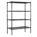 Salsbury Industries 9648S-BLK Wire Shelving - Stationary - 48 Inches Wide - 74 Inches High - 18 Inches Deep - Black