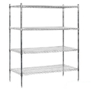 Salsbury Industries 9654S-CHR Wire Shelving - Stationary - 60 Inches Wide - 74 Inches High - 24 Inches Deep - Chrome