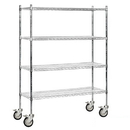 Salsbury Industries 9658M-CHR Wire Shelving - Mobile - 60 Inches Wide - 80 Inches High - 18 Inches Deep - Chrome