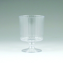 Maryland Plastics LU00510 5 oz. Lumiere Pedestal Wine Glass, Clear