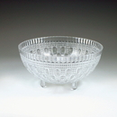 Maryland Plastics Crystalware Crystal Cut Footed Bowl, Clear