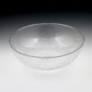 Maryland Plastics Crystalware Hammered Bowl, Clear