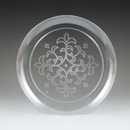 Maryland Plastics Sovereign Etched Plate (25 Ct.), Clear