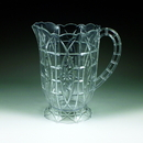 Maryland Plastics MPI0915 64 oz. Crystalware Crystal Cut Pitcher, Clear