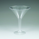 Maryland Plastics MPI90604 6 oz. Sovereign Martini Glass, 2 Piece, Clear
