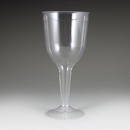 Maryland Plastics NC20116 10 oz. Newbury 2 Piece Wine Glass, Clear