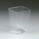 Maryland Plastics TT20106 1 oz. Tiny Tasters Mini Square Portion Cup, Clear