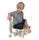 Melissa & Doug 1900 Wooden ABC/123 Blocks