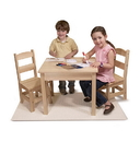 Melissa & Doug 2427 Solid Wood Table & Chairs 3-Piece Set