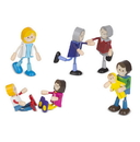Melissa & Doug 2470 Wooden Flexible Figures - Caucasian Family