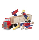 Melissa & Doug 2758 Big Rig Building Truck Wooden Play Set