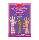 Melissa & Doug 2948 Temporary Tattoos - Metallic