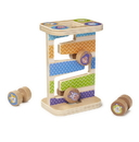 Melissa & Doug 30125 First Play Wooden Safari Zig-Zag Tower With 4 Rolling Pieces