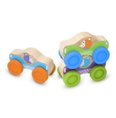 Melissa & Doug 30129 First Play Wooden Animal Stacking Cars